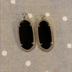 Kendra Scott Elle Earrings (Black/Gold)